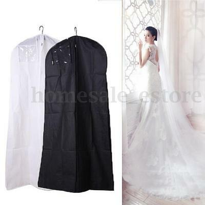 2 Size Wedding Dress Bridal Gown Garment Dustproof Breathable Cover Storage Bag