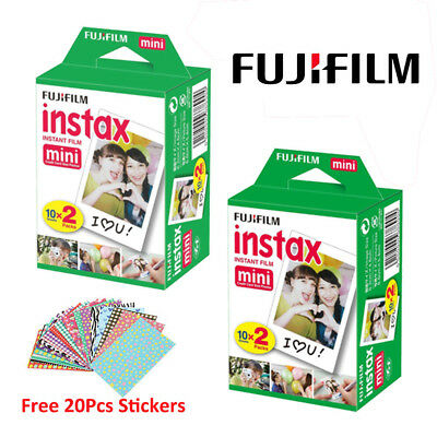 40 Sheet Fujifilm Instax Mini Film Fuji instant photo 7s 8 25 70 90 300 SP-1 AU