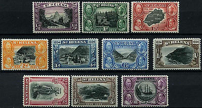 St. Helena 1934 SG#114-123 British Colonisation Centenary KGV MH Set #D26929