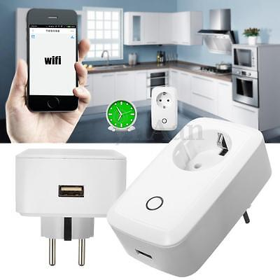 Smart Wifi Internet Power Socket Remote Control Timer Switch USB for iOS Android