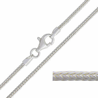 925 Sterling Silver FOXTAIL Chain Necklace 1.5mm