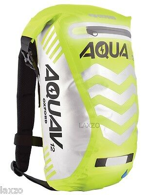 Oxford Aqua V12 Waterproof Backpack Fluorescent Yellow Reflective Rucksack OL953