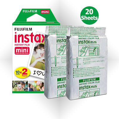 20 Sheet Fujifilm Instax Mini Film Fuji instant photo 7s 8 25 90 Polaroid 300 AU