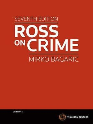 Ross on Crime by Mirko Bagaric Paperback Book