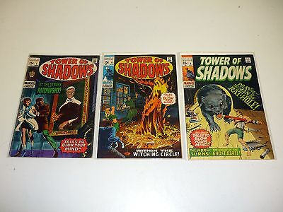 TOWER OF SHADOWS #1 4 6 Marvel Comic Books Lot of 3 Issues VG-VF 1969