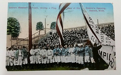 """Detroit Opening Day (1915) Trolley-Size Postcard (Reproduction) 11"""" x 17 1/2"""""""