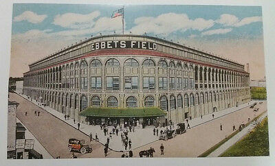 "Ebbets Field Trolley-Size Postcard (Reproduction) 11"" x 18 1/8"""