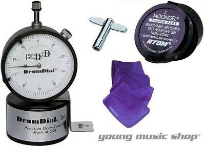 DrumDial with Drum Key and FREE MOONGEL! Drum Head Precision Tuner Drum Dial