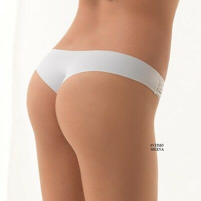 Slip Donna Brasiliana In Pizzo Lormar Art. Holly Tassello In Cotone Formedouble