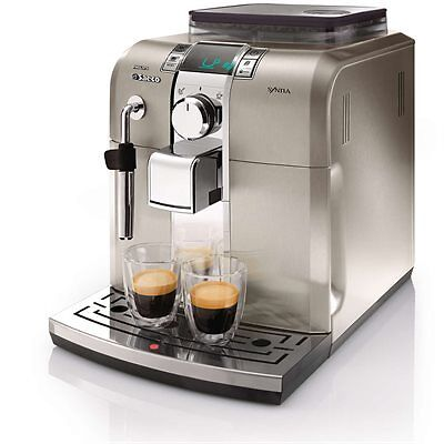 Saeco Philips Syntia Super-automatic Espresso Machine HD8837/47 Stainless Steel