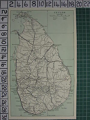 1959 India/pakistan Tourist Map ~ Ceylon Provinces Colombo Hambantota Puttalam