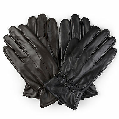 Territory Mens Lined Fashion Leather Sheepskin Driving Gloves