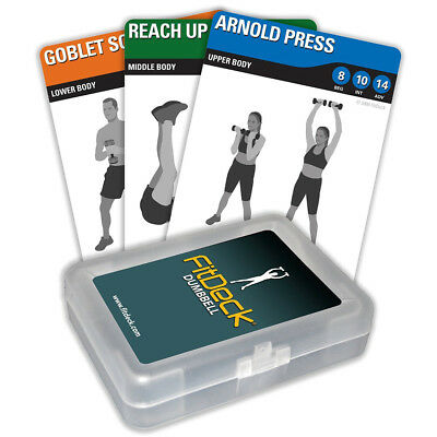 FitDeck Dumbbell Exercise Playing Cards