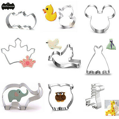 35 Styles DIY Stainless Steel Biscuit Cookie Cutter Cake Mold Baking Pastry Tool