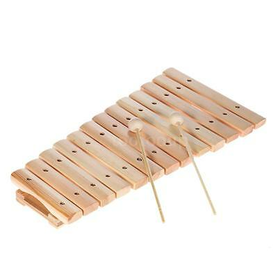 Musical Xylophone Piano Wooden Instrument Music Toys with 2 Mallets O1E4