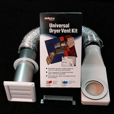 Deflecto - Universal Clothes Dryer Vent Kit For Wall Outlet - SKU DK4W