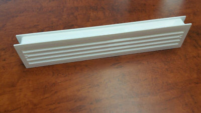 Door Vent | Double Sided | 450mm x 90mm | White Plastic | SKU 6145