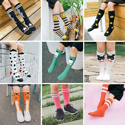 Baby Toddler Kids Soft Cotton Knee High Socks Tights Hosiery Stockings 0-6 years