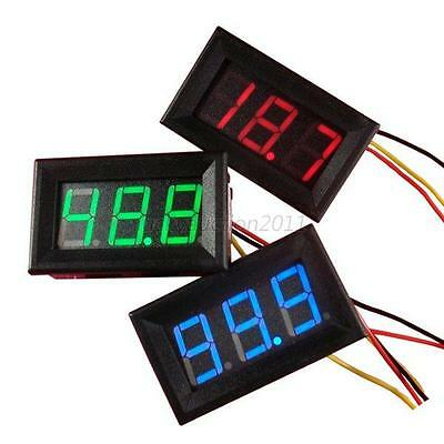 WaterProof Mini DC0-100V Voltmeter LED Panel 3Digital Display Volt Voltage Meter