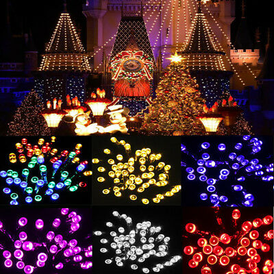 Outdoor Solar Powered 50 LED Fairy String Light Yard Garden Path Chirstmas Lamp