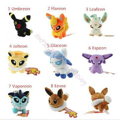Pokemon Go Umbreon Eevee Jolteon Vaporeon Flareon Glaceon Leafeon Plush Dolls