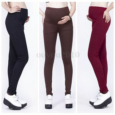Women Pregnant Maternity Pants Cotton Elastic Adjustable Belly Leggings Trousers