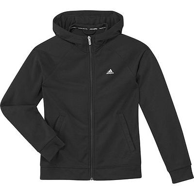 Adidas Girls Black Prime Full Zip Soft French Terry Hoodie D89279 Age 2 3 4 5 6