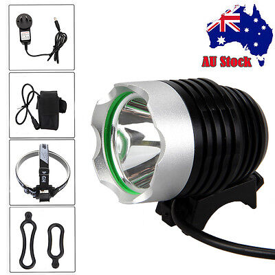 Rechargeable 5000Lm XML T6 LED Front Head Bicycle Bike Light HeadLight Rear Lamp