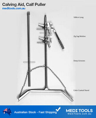 Calf Puller, 168cm, Mechanical, Calving Aid, Nickle Plated Rod, Premium Quality