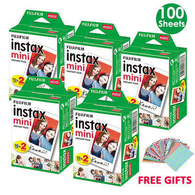 100 Sheet Fujifilm Instax Mini Film Fuji Instant Photos 7s 8 25 90 SP-1 SP-2 AU
