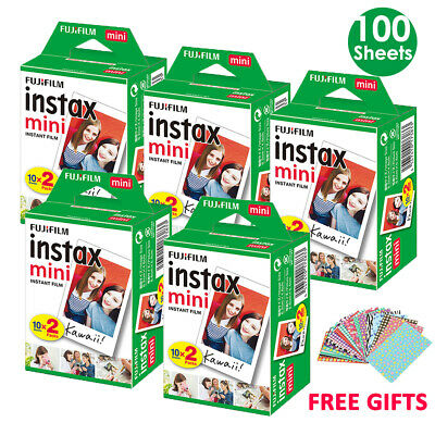 100 Sheets Fujifilm Instax Mini Film Fuji Instant Photos 7s 8 9 70 Polaroid 300