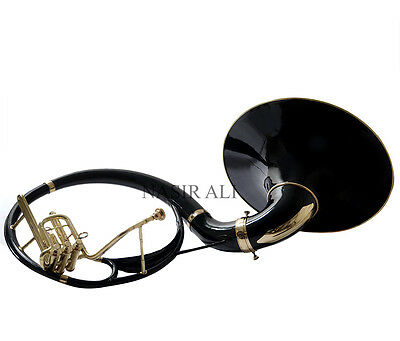 BLACK LACQUERED Bb PITCH SOUSAPHONE FOR SALE WITH FREE CARRY BAG + MOUTHPIECE