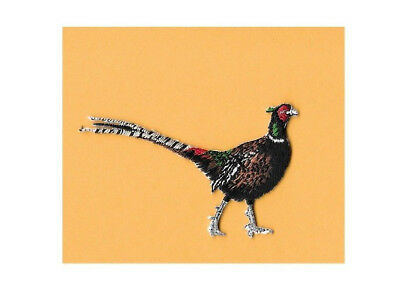 Pheasant Birds Hunting Sports Hunter Iron On Embroidered Applique Patch