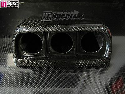D1 SPEC CARBON FIBER 52mm TRIPLE GAUGE HOOD POD fits SUBARU IMPREZA LEFT HAND