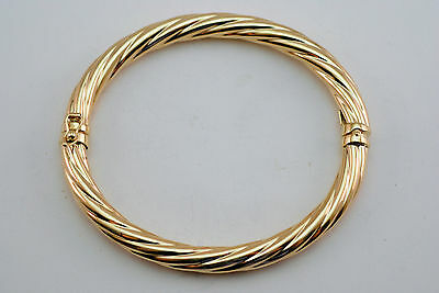 10K gold twisted bangle / bracelet
