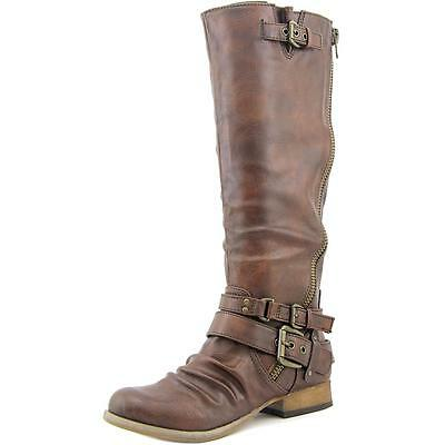 Carlos by Carlos Santana Hanna 2 Women Round Toe Synthetic Brown Knee High Boot