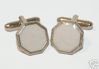 New Pearly White / Gold Cufflinks Formal Mens Jewelry Wedding Gift Groomsman L11
