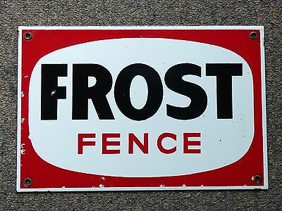 Rare Canadian FROST FENCE porcelain 3 colors english advertising sign FREE SHIP!