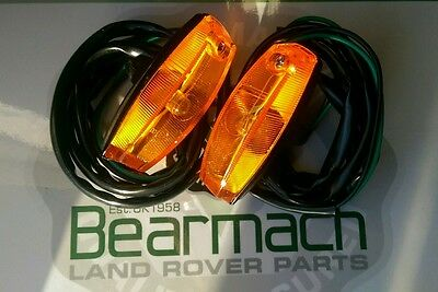 Land Rover Range Rover Classic Side Indicator Units + Bulbs,  Crimped Wire Tails