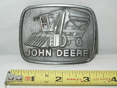John Deere Cotton Picker Pewter Belt Buckle   Mint Condition
