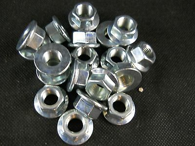 M12 12mm X 1.25 EXTRA FINE THREAD HEX FLANGE  NUT LOT OF 20 NUTS
