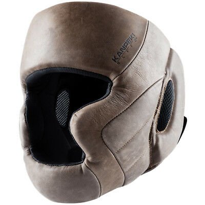Hayabusa Kanpeki Elite 3 Full Grain Leather Headgear - boxing mma sparring