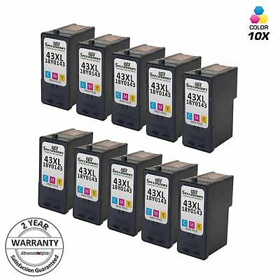 10pk 18Y0143 COLOR Ink Cartridge for Lexmark #43 43XL