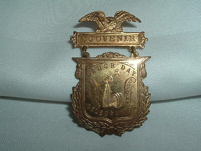 Vintage 1910 Schwaab S&S Co. Misprinted Advertising Pin Rare Collectible