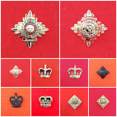 British Army Officers Stars Pips & Crowns 5/8th Colour Tops Stars Black Crowns