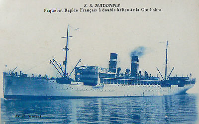 Vintage Postcard-Ss Madonna.used Extensively As An Immigrant Ship.launched 1905