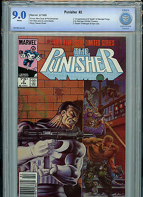 The Punisher #2 Marvel Comics CBCS 9.0 VF/NM 1986 #2 in 5 Part Series