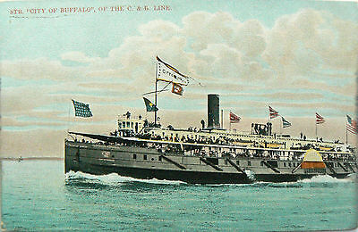 Vintage Postcard.ss City Of Buffalo.the C & B Line.undivided Back