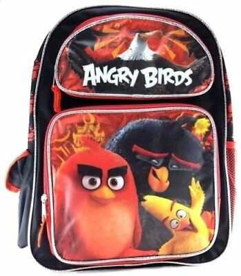 """New Arrive Angry Birds 16"""" Canvas School Backpack-Red"""