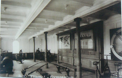 Vintage Postcard.ss Titanic.the Gymnasium.this Is A Repro Image